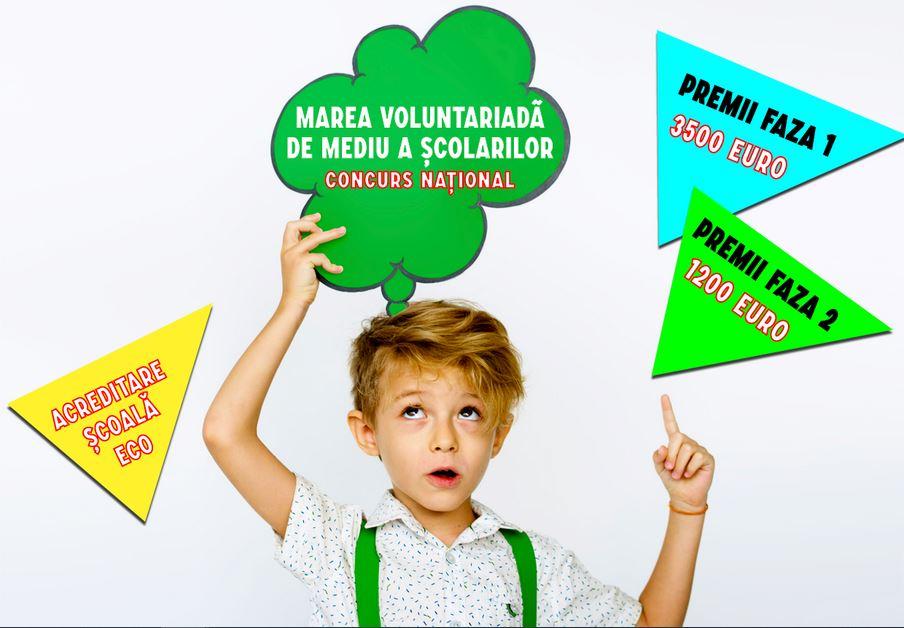 Marea VOLUNTARIADĂ națională de mediu a școlarilor!